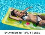 sensual tattooed woman portrait ... | Shutterstock . vector #547541581