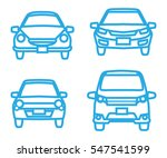 car icon set   front view  blue ... | Shutterstock .eps vector #547541599
