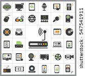 set of multimedia icons.... | Shutterstock .eps vector #547541911