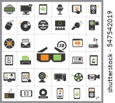 set of multimedia icons.... | Shutterstock .eps vector #547542019