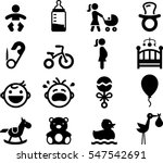 baby icon set | Shutterstock .eps vector #547542691