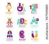 kids science education extra... | Shutterstock .eps vector #547549885