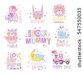 baby nursery room print design... | Shutterstock .eps vector #547550035