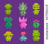 alien fantastic plant...   Shutterstock .eps vector #547550119