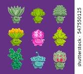 alien fantastic plant... | Shutterstock .eps vector #547550125