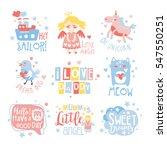 baby nursery room print design... | Shutterstock .eps vector #547550251