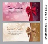 gift voucher template vector... | Shutterstock .eps vector #547551319