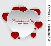 valentine's day heart symbol.... | Shutterstock .eps vector #547551331