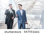 two westerner business men talk ... | Shutterstock . vector #547551661