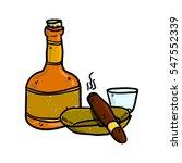 hand drawn set of cognac... | Shutterstock .eps vector #547552339