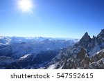 alps in winter sunny day  blue... | Shutterstock . vector #547552615
