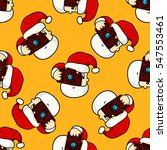 christmas seamless pattern with ... | Shutterstock .eps vector #547553461
