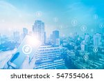 double exposure business mand... | Shutterstock . vector #547554061