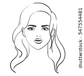 beautiful girl  young woman...   Shutterstock .eps vector #547554481