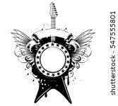 vector illustration guitar and... | Shutterstock .eps vector #547555801