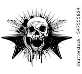 vector illustration skull with... | Shutterstock .eps vector #547555834