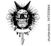 vector illustration skull with... | Shutterstock .eps vector #547555864
