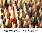 pencil leader concept  sharp in ... | Shutterstock . vector #547560277
