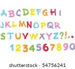 kids alphabet uppercase | Shutterstock .eps vector #54756241