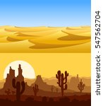 set of desert landscapes with... | Shutterstock .eps vector #547562704