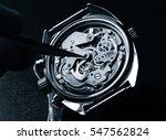 watchmaker working on watch... | Shutterstock . vector #547562824