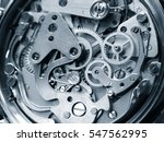 clock mechanism close up view | Shutterstock . vector #547562995