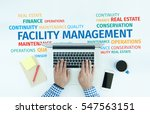business concept  facility... | Shutterstock . vector #547563151