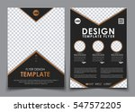 template black a4 brochures.... | Shutterstock .eps vector #547572205
