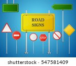 set of road signs isolated on... | Shutterstock .eps vector #547581409