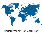 blue world map vector. | Shutterstock .eps vector #547581859