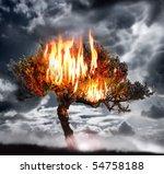 Dramatic Photo Of A Burning...