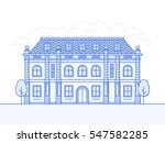french chateau vector icon.... | Shutterstock .eps vector #547582285