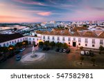 beautiful sunset view over faro ... | Shutterstock . vector #547582981