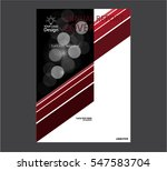 annual business report cover... | Shutterstock .eps vector #547583704