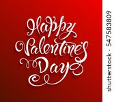 happy valentines day. greeting... | Shutterstock .eps vector #547583809