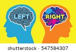 left and right brain way of... | Shutterstock .eps vector #547584307