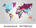 world map countries vector on... | Shutterstock .eps vector #547586161
