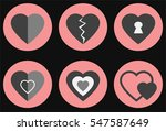 set of hearts for valentine s... | Shutterstock .eps vector #547587649