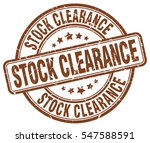 stock clearance. stamp. brown... | Shutterstock .eps vector #547588591