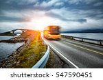 public bus traveling on the... | Shutterstock . vector #547590451