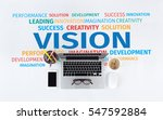 business concept  vision word... | Shutterstock . vector #547592884