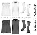 basketball uniform  shorts ... | Shutterstock .eps vector #547601845