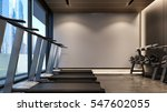 modern gym with white wall   3d ... | Shutterstock . vector #547602055