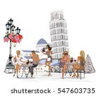 fashion people in the... | Shutterstock .eps vector #547603735