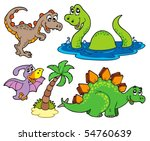 various dinosaur collection  ... | Shutterstock .eps vector #54760639