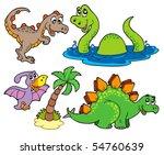 various dinosaur collection  ...   Shutterstock .eps vector #54760639