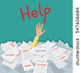 hand of businesswoman emerging... | Shutterstock .eps vector #547606684