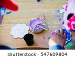 top view kid painting with... | Shutterstock . vector #547609804