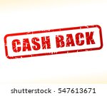 illustration of cash back text... | Shutterstock .eps vector #547613671