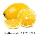 fresh lemon  whole lemon and... | Shutterstock .eps vector #547613791
